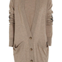 Maison Martin Margiela | Leather-detailed wool cardigan | NET-A-PORTER.COM