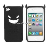 iPhone 4 4G Demon Devil Design Anti-slip Silicone Skin Case - SourceSquare.com