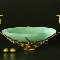 Heron Bowl by Georgia Pozycinski and Joseph Pozycinski: Art Glass  Bronze Sculpture - Artful Home