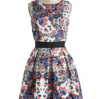 Make the Rounds Dress in Paisley Bouquets | Mod Retro Vintage Dresses | ModCloth.com
