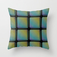 Big Tiles Throw Pillow by Lyle Hatch