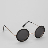 Capped Lens Round Sunglasses