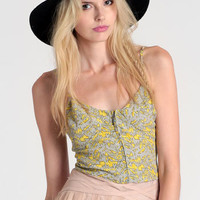 Right Stuff Printed Crop Top By Lucca Couture - $16.50 : ThreadSence, Women's Indie & Bohemian Clothing, Dresses, & Accessories