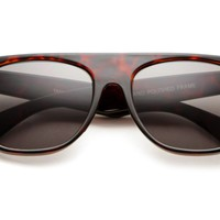 80's - Bloc Top Tortoise King Flat Top Wayfarer Sunglasses