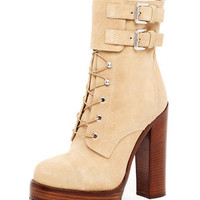 Michael Kors Lace-Up Buckle Boot