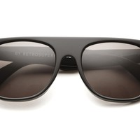 Retro Super Future - Flat Top Sunglasses (Black)