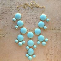 Pree Brulee - Soft Baby Blue Tea Necklace