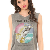 Chaser The Welcome to the Machine Pink Floyd Muscle Crop in Gray : Karmaloop.com - Global Concrete Culture