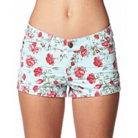 Rose Print Denim Shorts | FOREVER 21 - 2057432316