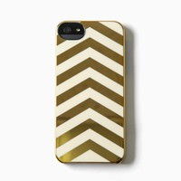 Incase - iPhone 5 Stripes Snap Case (Gold Chrome/Cream Chevron)