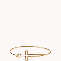 Cutout Cross Bangle
