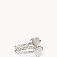 Twisted Heart Ring Set
