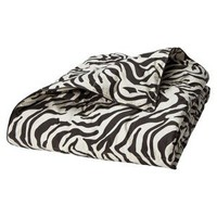 Zebra Print Down Throw