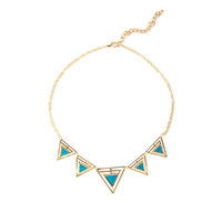 Triangle Cut Outs Necklace - 2020AVE