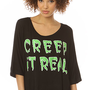 MYVL Creep It Real Shirt in Black