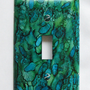 Light Switch Cover - Light Switch Plate Alcohol Ink Abstract Blue Green