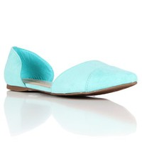 Mint Pointed Flat