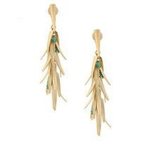 Rivka Friedman Green Quartzite Chili Dangle Earrings | Overstock.com