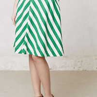 Anthropologie - Spearmint Stripe Skirt