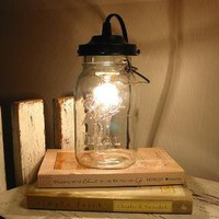 Orono II Vintage Canning Jar LAMP Created New by LampGoods on Etsy