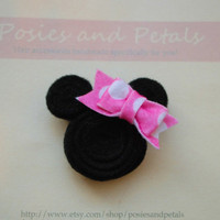 Minnie Mouse Disney Felt Hair Clip or Headband by PosiesandPetals