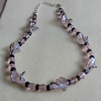 Pink Twisted Glass Necklace | pattysdreamdesigns - Jewelry on ArtFire
