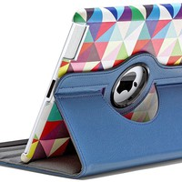 ROTATA TRIANGLE Pattern 360 Degrees Rotating Stand Case for Apple iPad 2, iPad 3 and iPad 4th Generation