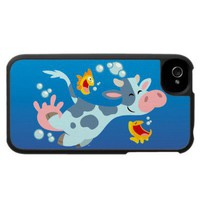 The Sea Cow and Fish Friends iPhone Case from Zazzle.com