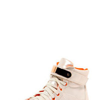 Emilia Irridescent Lace Up Metallic Trim Hi Top