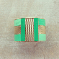 Pree Brulee - Mint Geometry Cuff