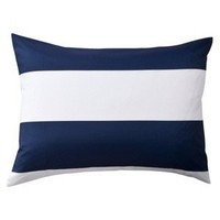 Room Essentials® Rugby Sham - Blue/White (Queen)