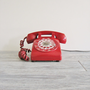 Vintage Northern Electric Cherry Red Rotary Phone