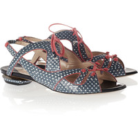 Nicholas Kirkwood Printed watersnake sandals – 60% at THE OUTNET.COM