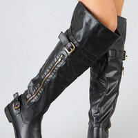 Madden-02 Zipper Cuff Riding Boot
