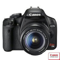 Canon EOS Rebel T1i 15.1MP Digital SLR Camera with EF-S 18-55mm IS Lens - Black : Target