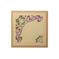 Art Nouveau Small Ceramic Tile from Zazzle.com