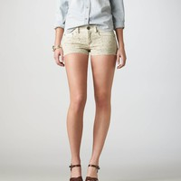 AE Crocheted Denim Shortie | American Eagle Outfitters
