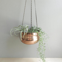 simple vintage hanging planter