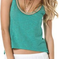 ROXY OFF THE LAKE BEADED TANK | Swell.com