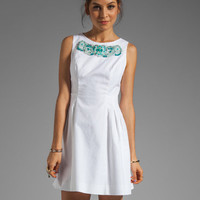 Shoshanna Beaded Freyja Dress in White/Turquoise from REVOLVEclothing.com