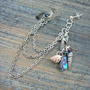 ONE mermaid abalone silver ear cuff  with chains mermaid siren abalone shells in boho gypsy hippie hipster  beach  resort and fantasy style
