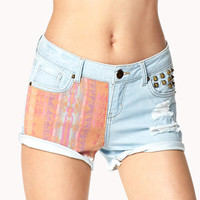 Life in Progress™ Southwestern Denim Shorts | FOREVER 21 - 2037911147