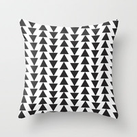 triangles Throw Pillow by daniellebourland