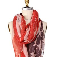 Navy/Red Vintage Flag Scarf