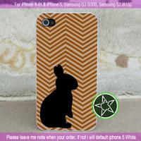 Brown Rabbit Silhouette for iPhone 4-4s, iPhone 5, Samsung S3, S2