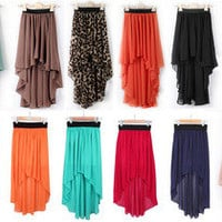 Dovetail chiffon Short skirts