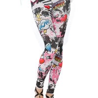 Papaya Clothing Online :: MULTI GRAPHIC LEGGINGS