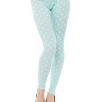 Papaya Clothing Online :: POLKA DOT MINT LEGGINGS