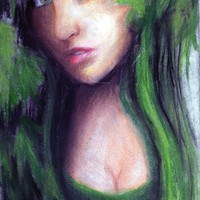 Green Envy Art Print by AliArt