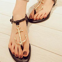 Black Pattern Sandals from BAIANSY